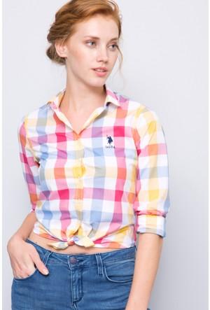 U.S. Polo Assn. Kadın Antero Gömlek Pembe