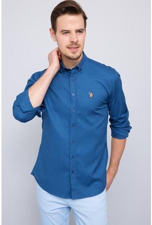 U.S. Polo Assn. Erkek Basket Gömlek Mavi