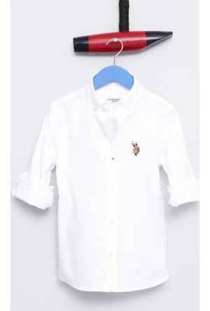 U.S. Polo Assn. Erkek Çocuk Cedcolorkids17K Gömlek Beyaz