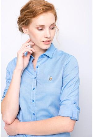 U.S. Polo Assn. Kadın Criscolor17K Gömlek İndigo