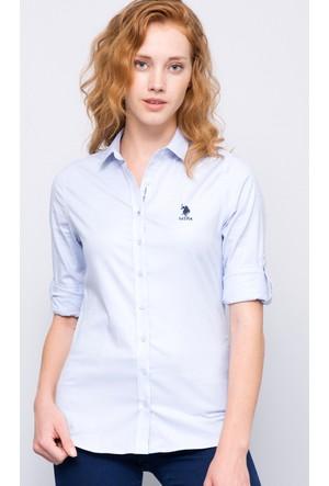 U.S. Polo Assn. Kadın Crista17K Gömlek Açık Mavi
