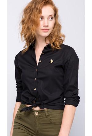 U.S. Polo Assn. Kadın Crisy17K Gömlek Siyah