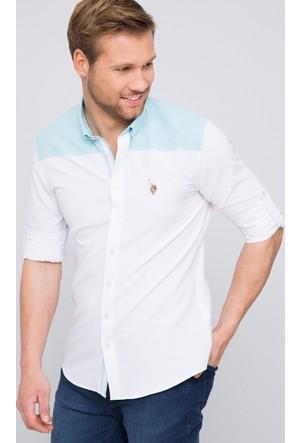 U.S. Polo Assn. Erkek Erenimo Gömlek Beyaz