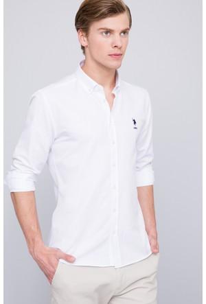 U.S. Polo Assn. Erkek Meto Gömlek Beyaz