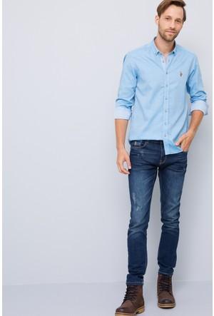 U.S. Polo Assn. Erkek Novaya17K Gömlek Mavi