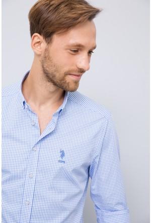 U.S. Polo Assn. Erkek Planck Gömlek Mavi