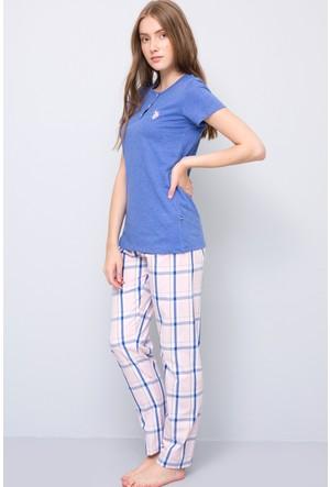 U.S. Polo Assn. Kadın Patli Pijama Takımı Mavi
