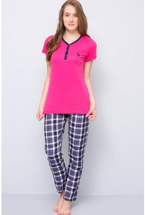 U.S. Polo Assn. Kadın Patli Pijama Takımı Fuşya