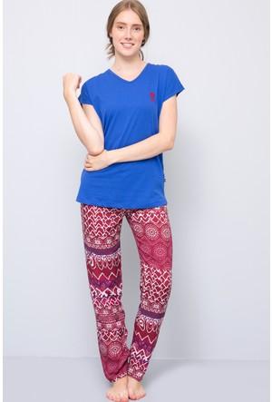 U.S. Polo Assn. Kadın Pijama Takımı Mavi