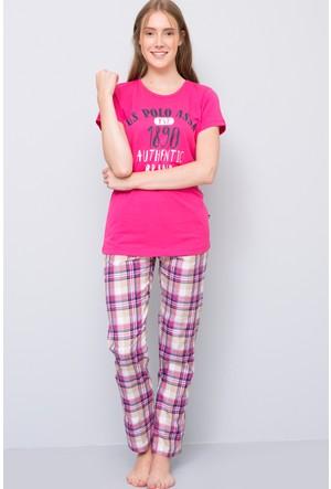 U.S. Polo Assn. Kadın Yuvarlak Yaka Pijama Takımı Fuşya