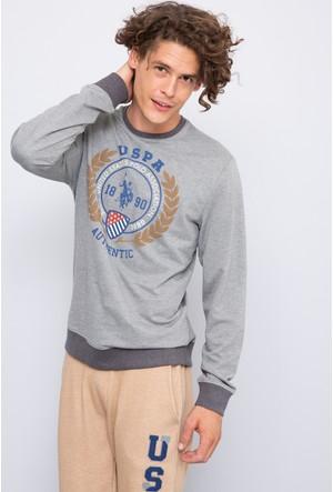 U.S. Polo Assn. Erkek John Sweatshirt Gri