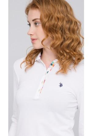 U.S. Polo Assn. Kadın Tpg-Sk07 Sweatshirt Beyaz