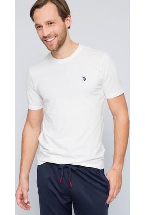 U.S. Polo Assn. Erkek Gts01Iy7 T-Shirt Beyaz