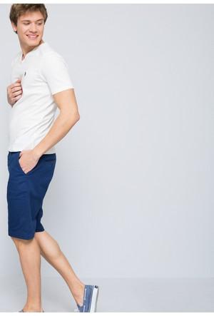 U.S. Polo Assn. Erkek Gts02İy7 T-Shirt Beyaz