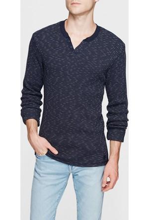 Mavi Düğmeli Yaka Lacivert T-Shirt