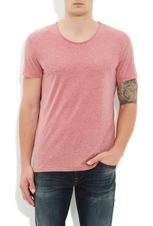 Mavi Açık Kırmızı Basic T-Shirt