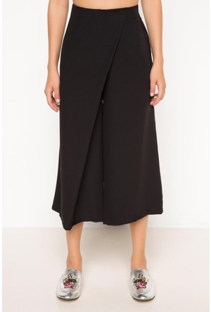 DeFacto Kadın Geniş Kısa Pantolon Siyah