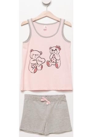 DeFacto Kız Çocuk Alt Üst Pijama Takımı Pembe