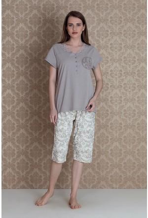 Hays Plus Size Kadın Kapri Pijama Takımı