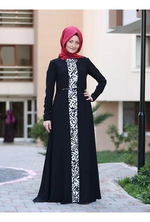 Feminen Elbise - Siyah- Ulviye Portakal