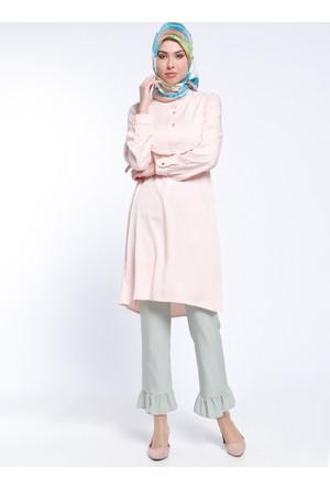 Fırfır Detaylı Pantolon - Mint - Modesty