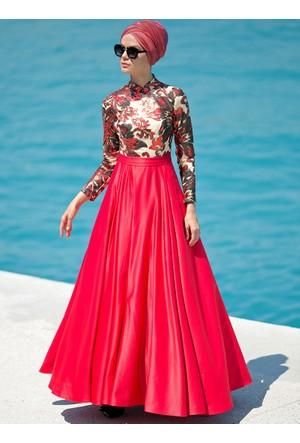 İzabel Abiye Elbise - Kırmızı - Zehrace