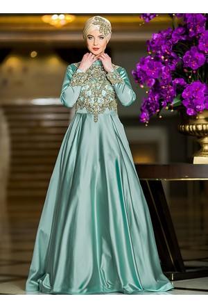 Efsane Abiye Elbise - Mint Yeşili - Zehrace