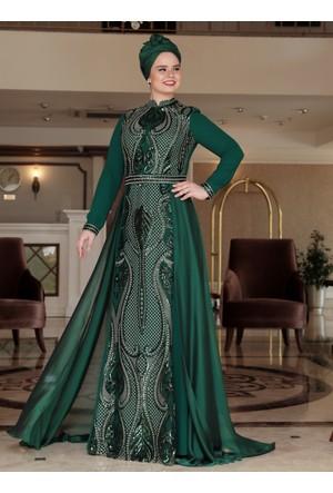 Aysira Abiye Elbise - Zümrüt - Saliha
