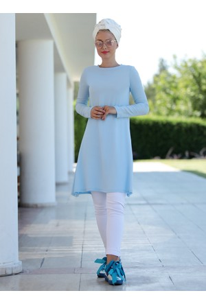 Basic Tunik - Mavi - Selma Sarı Design