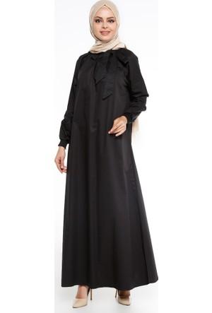 Gipeli Elbise - Siyah - Pardesü Dünyası