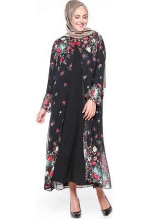 Şifon Parçalı Elbise - Siyah - CML Collection