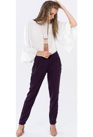 İroni Dantel Şeritli Pull On Pantolon