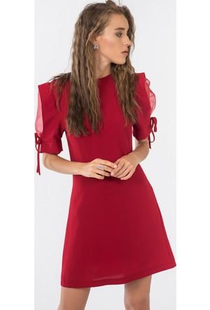 İroni Karpuz Kol Elbise