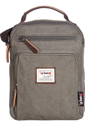Young Kumaş Body Bag YG31040 Gri