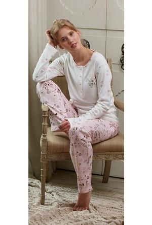 Feyza 3116 Welsoft Yelekli 3'lü Kadın Pijama Takımı