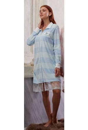 Feyza 3131 Önden Fermuarlı Kadife Elbise