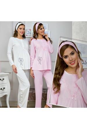 Baha 3122 Uzun Kollu Hamile Lohusa Pijama Takımı