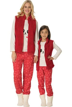 Şık Mecit 1762 Polar Yelekli Uzun Kollu Kadın Pijama Takımı