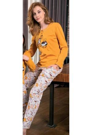 Yeni İnci BPJ1164 Süprem Uzun Kollu Kadın Pijama Takımı