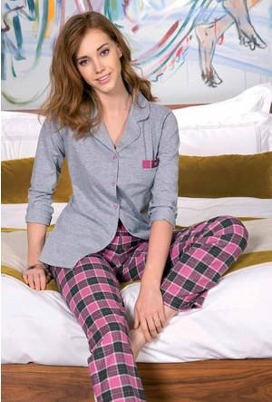 Yeni İnci BPJ1170 Süprem Uzun Kollu Kadın Pijama Takımı