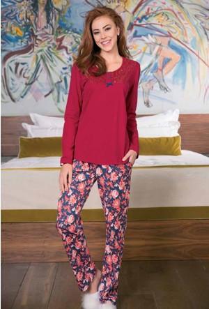 Yeni İnci BPJ1190 Süprem Uzun Kollu Kadın Pijama Takımı