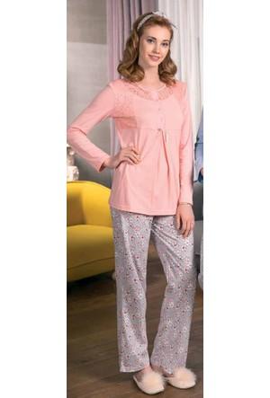 Yeni İnci BPJ1208 Süprem Lohusa Hamile Pijama Takımı