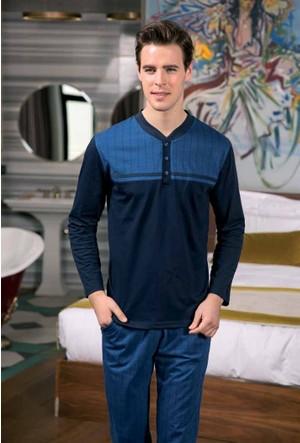 Yeni İnci EPJ632 Süprem Erkek Uzun Kollu Pijama Takımı