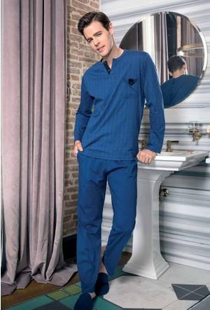Yeni İnci EPJ634 Süprem Erkek Uzun Kollu Pijama Takımı