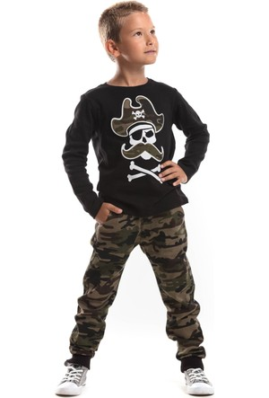 Mushi Pirates Kamuflaj Kanvas Pantolon Takım