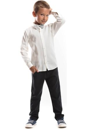 Mushi Beyaz Gömlek Pantolon Takım