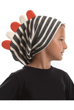 Mushi Siyah Tırtırlı Şapka