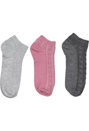 Collezione Kadın Çorap Milita 4'lü Patik Gri