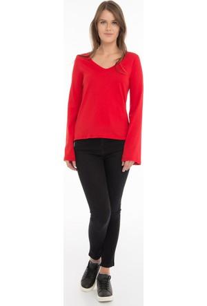 Collezione Kadın Sweatshirt Uzun Kol Allens Kırmızı