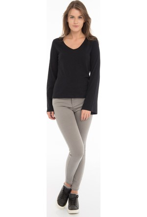 Collezione Kadın Sweatshirt Uzun Kol Allens Siyah